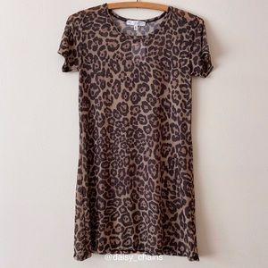 Leopard Print Mesh Tunic